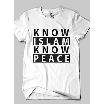Connaître l'islam islamique moitié manches t-shirt