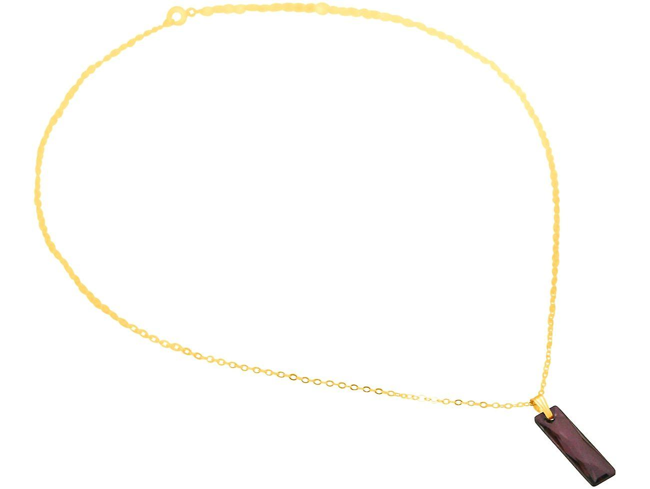Gemshine Kette Amethyst Anhänger 925 Silber oder vergoldet SWAROVSKI ELEMENTS
