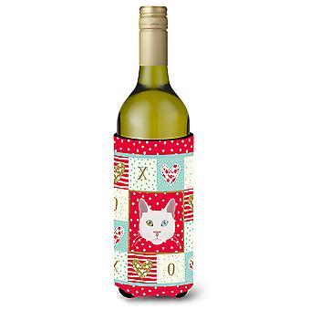 Khao Manee Cat Wine Bottle Beverage Insulator Hugger