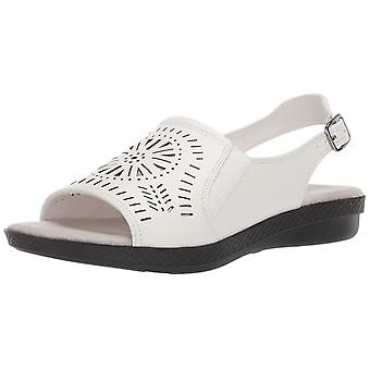 Easy Street Womens Rose Leather Open Toe Casual Slingback Sandals