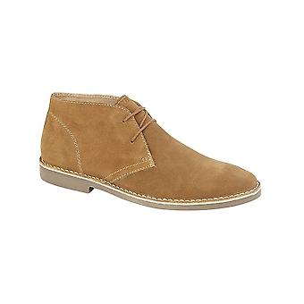 Roamers Sand Suede 2 Eye Desert Boot Textile Lining Padded Textile Sock Tpr Sole