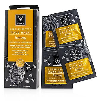 Express Beauty Face Mask with Honey (Moisturizing & Nourishing) 6x(2x8ml)