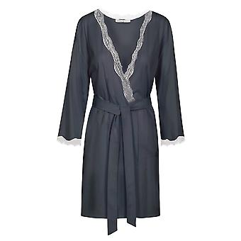Féraud 3191146-11694 Women's High Class Night Blue Modal Dressing Gown Loungewear Robe