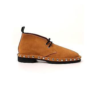 Alexander Mcqueen 604260whxg59822 Men-apos;s Brown Suede Ankle Boots