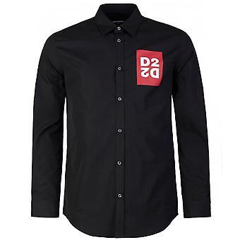 Dsquared2 DSquared2 D2 شعار طباعة قميص