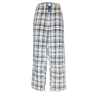 Cuddl Duds Women's Petite Pajama Pant Fleecewear Stretch Novelty Blue A371298