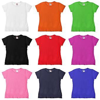 Frukten av vävstol flickor Sofspun kort ärm T-Shirt