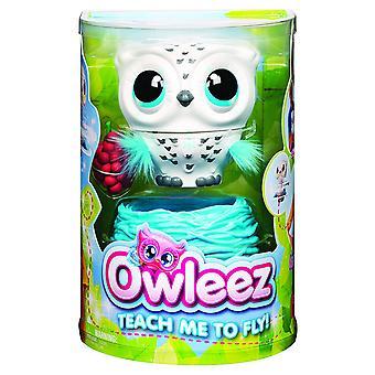 Owleez 6046148 Flying Baby Owl Interactive Toy White