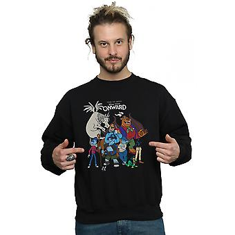 Disney Men's Onward Character Collage Sweatshirt