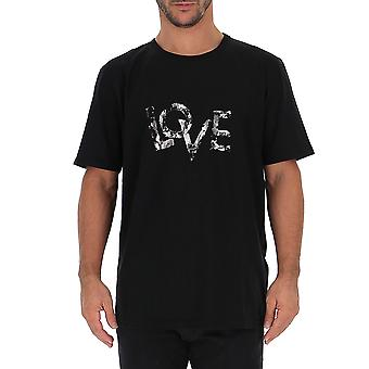 Saint Laurent 585368ybkz21081 Men's Black Cotton T-shirt
