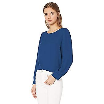 J.Crew Mercantile Women's Plus Size Solid Boatneck Blouse, Dark Cove, Tamaño 3.0