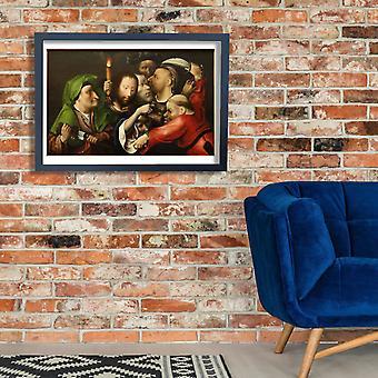 Hieronymus Bosch - a prisão de Cristo Poster impressão giclée