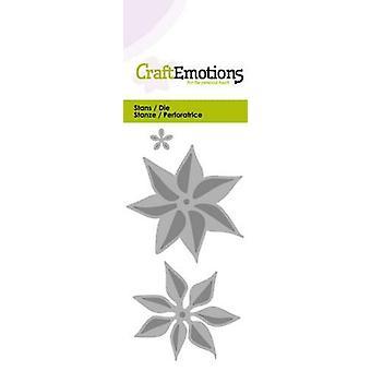 CraftEmotions يموت - زهرة poinsettia بطاقة 3D 5x10cm