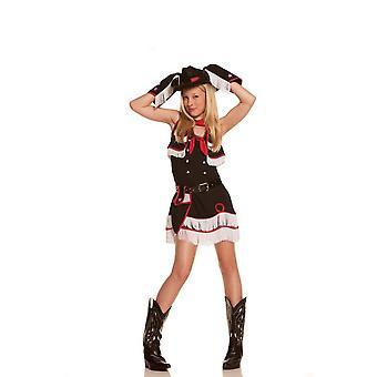 Kvinnor Cowgirl Cutie Kostym