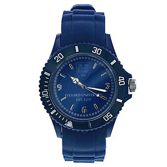 Licensed Oxford University EST 1231 Quartz Movement Rotating Bezel Blue Dial & Blue Silicone Strap Watch OU02A