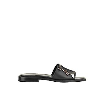 Dondup Ezgl030255 Women's Black Leather Sandals