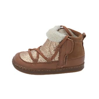 Shoo Pom Bouba Glagla Kids Girls Boots Gold Lace-Up Boots Winter