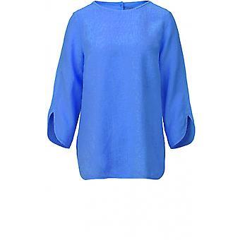 Backstage Blue Linen Top