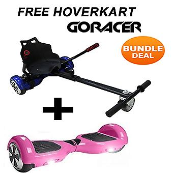 GoRacer Hoverkart z 6.5&Classic Bluetooth Pink Hoverboard Segway