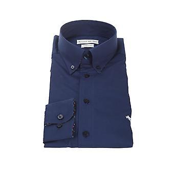 Etro 1k96464000200 Männer's blaue Baumwolle Shirt