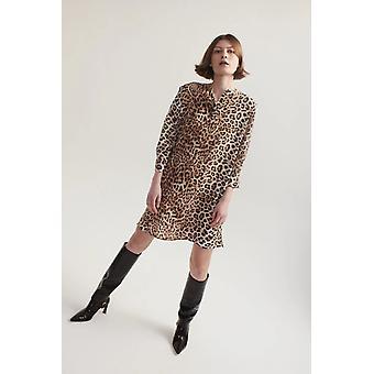Vestido de camisa Lindsay Nicholas NY en leopardo