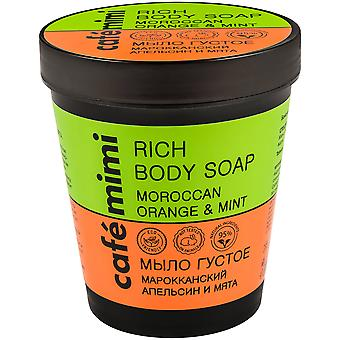 Cafe Mimi Thick Moroccan Orange and Mint Soap 220 ml