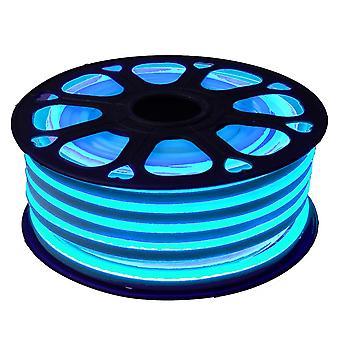 Jandei Fleksibel NEON LED Strip 25m, Color Sky Blue Light 12VDC 8 *16mm, Cut 1cm, 12W 100 LED/m SMD2835, Dekoration, Figurer, Led Plakat