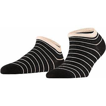 Falke Stripe Shimmer Sneaker Sokker - Anthra Melange Grey