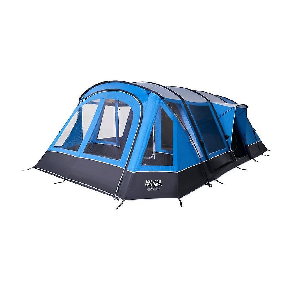 New Vango Icarus Air Vista 600XL 6 Person Inflatable Tent Blue