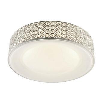 Lampe de plafond Salvo White Color métal, Acrylique 50x50x12 cm