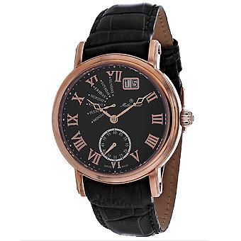 Mathey Tissot Men's Retrograde Black Dial Watch - H7020PN