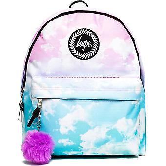 Hype Cloud Fade Backpack Bag with Pom Pom Pink 67
