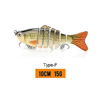14cm 23g Fishing Tackle Lure Sinking Wobblers Fishing Lures Jointed Crankbait Swimbait - 8 Segment Hard Artificial Bait