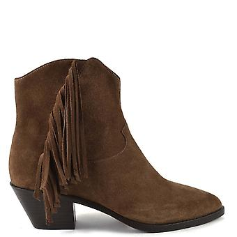 Ash FARROW BIS Fringed Russet Suede Boots