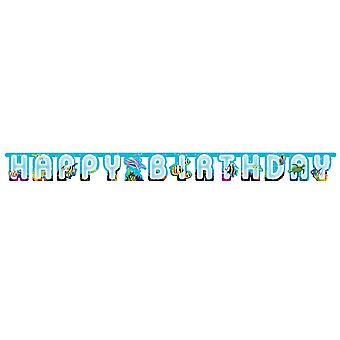 Ocean Party 'Happy Birthday' Card Banner for Sealife Parties - 2.2m