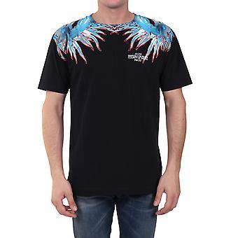 Marcelo Burlon Cmaa018f20jer0111040 Men's Black Cotton T-shirt