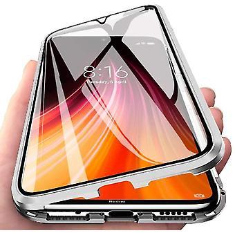 Mobiles Gehäuse mit integriertem Bildschirmschutz für Xiaomi Redmi Note 8 - Silver