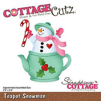 Scrapping Cottage Teapot Snowman