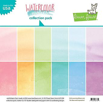 Lawn Fawn Aquarelle Souhaits 12x12 Inch Collection Pack