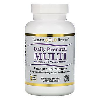 California Gold Nutrition, Prenatal Multi for Pregnant & Nursing Mothers, 60 Fis