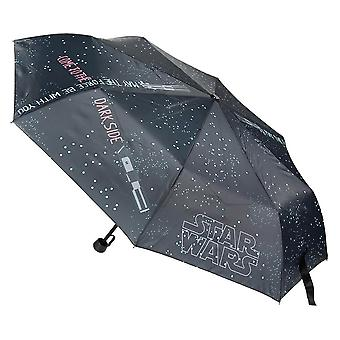 Star Wars Logo Black Folding Umbrella