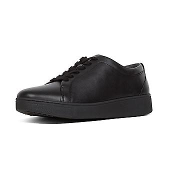 FitFlop Fitflop Rally™ Leather Sneakers In All Black