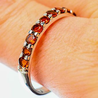 Faceted Citrine Ring Size 11 (925 Sterling Silver)  - Handmade Boho Vintage Jewelry RING25497