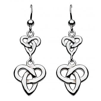 Heritage Sterling Silver Niamh Celtic Double Trio Knot Earrings 62025HP015