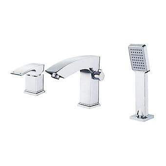 Single Holder Dual Control Waterfall For Bath Tub - Deck Mounted On Tub