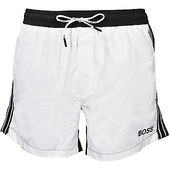 BOSS Bluefin Uimas shortsit, Musta/Valkoinen
