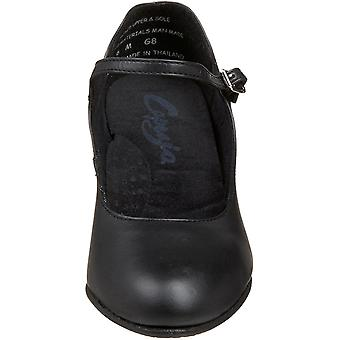Capezio Women's Shoes 650 Student Footlight Character Leather Round Toe Mary ...