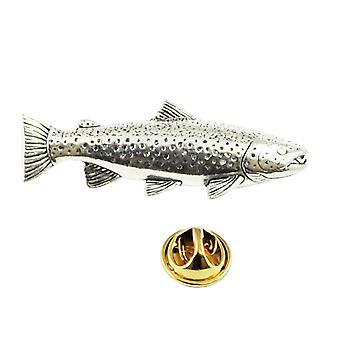 Insignia Ties Planet Pike Fish Pewter Lapel Pin