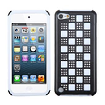 Asmyna Duple Case pour iPod Touch 5th Gen - Silver Checker/Black/White/Diamante