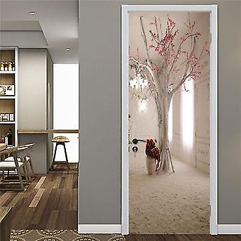 Adesivo de porta da biblioteca à prova d'água de estilo diferente, papel de parede self stick para casa